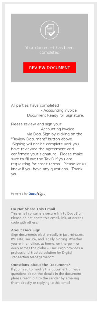 DocuSign Phishing Example