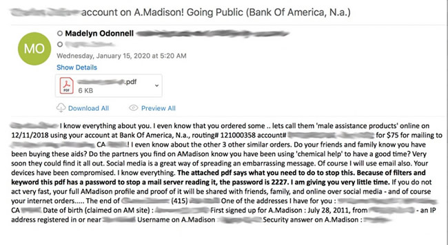 ashley madison extortion