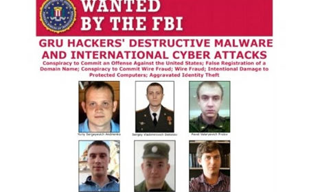 DOJ Charges 6 GRU Hackers for NotPetya Wiper Attacks